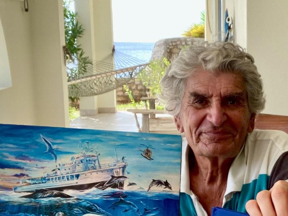 Dominique Sérafini chez lui à Bonaire.