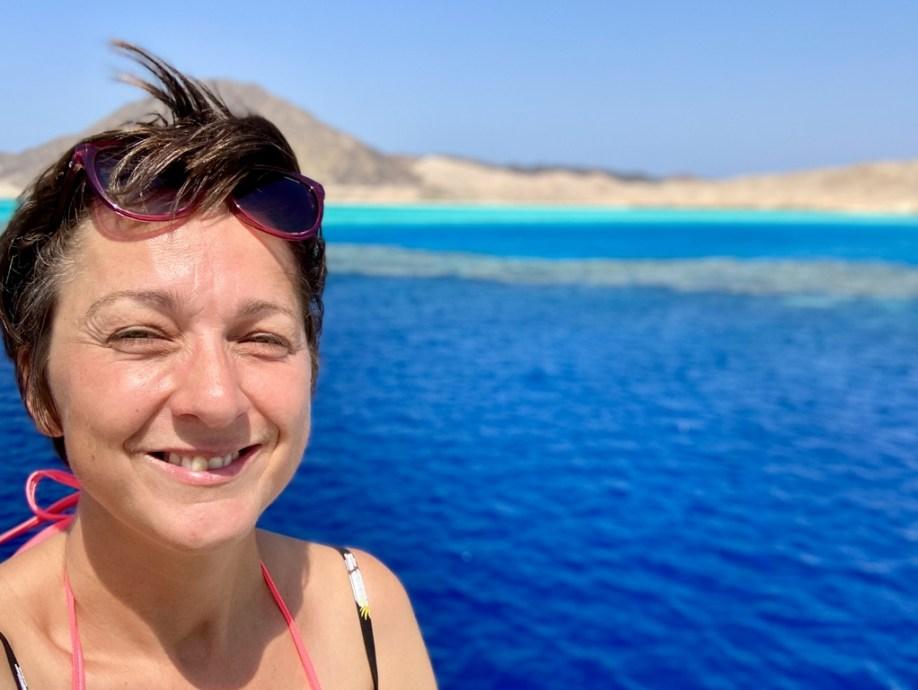 Hélène Adam fait une croisière de plongée à Zabargad en Egypte.