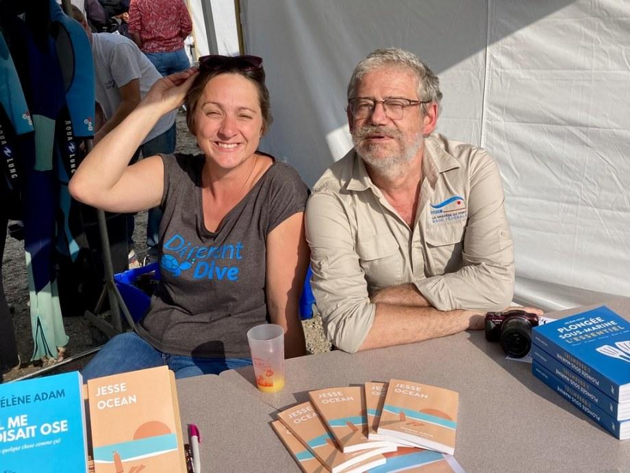 Hélène Adam et Michel Lambinet à la Gravière du Fort
