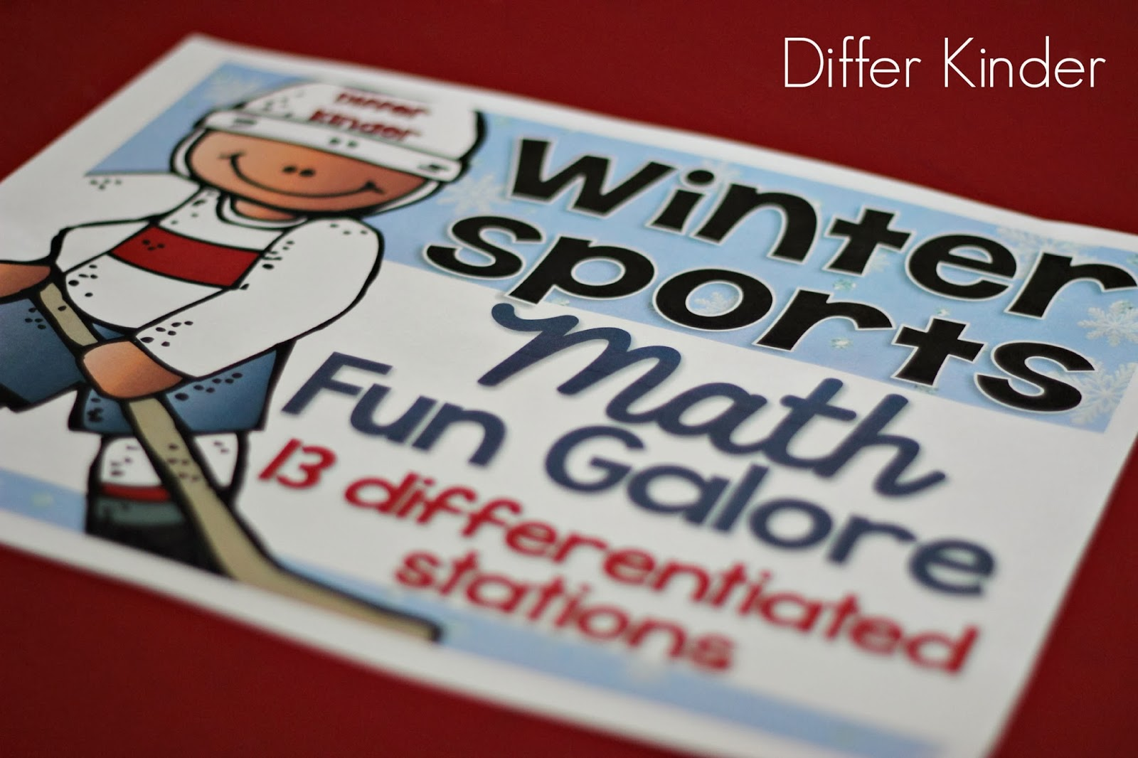 Olympic Sized Differentiated Math Stations Fun