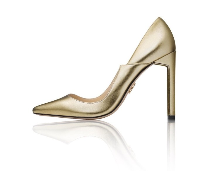 The Zvelle Ava Gold. Heels with a social conscience. Photo: Zvelle