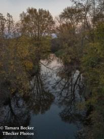 Earth's Shadow along Big Creek in autumn