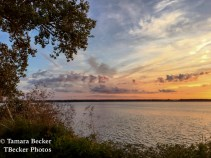 Sunset along the Mississippi River as seen from Nauvoo, IL