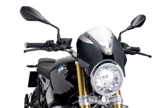 Cúpula Naked BMW R NINE T (2014-2017) Puig Color Transparente Carcasa Carbono - Ref. 7559W