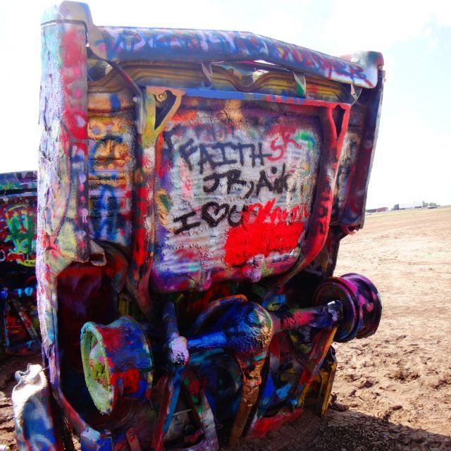 Cadillac Ranch is near Amarillo Texas