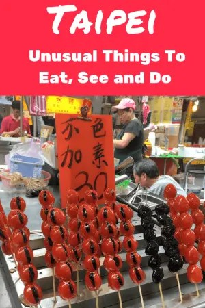 Planning a trip to Taipei - check out our guide to 26 of the most unusual things to do in Taipei. From the strangest place to sleep, a relaxing massage - with knives - and the super cute cafe that sees you having coffee with an alpaca. Click to read it now or add it to your Taipei or Taiwan boards for later. #thingstodointaipei #taipei #taiwan