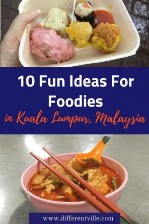 If you're planning a trip to Kuala Lumpur and are looking for some foodie ideas of what to do, this is the post for you. find out where you can try whipped cream beer or the best banana ftitters in Kuala Lumpur - and the bar with the best view in town. #kualalumpur #wheretoeatinkualalumpur #kualalumpurfood