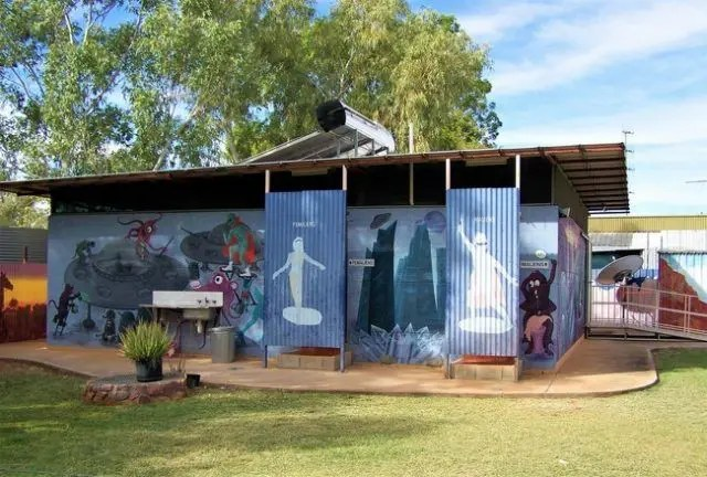 This unusual toilet block can be found at Wycliffe Well, Australia's UFO capital