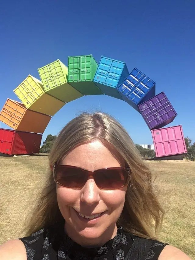 The container bow is a sculpture made from brightly coloured shipping containers in Fremantle just outside Perth, Australia. It's just one of the fun things to do in, Perth.