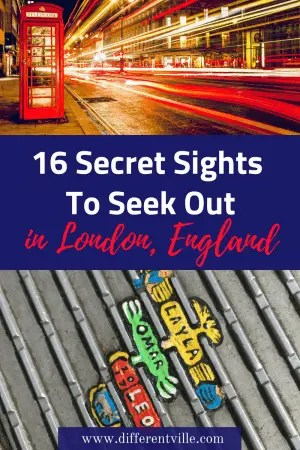 Looking for some more off the beaten track ideas of things to do in London? Why not track down some of our secret sighs? From the lighthouse in the middle to Kings Cross to the hidden paintings on London's Millennium Bridge. #london #londonsights #secretlondon
