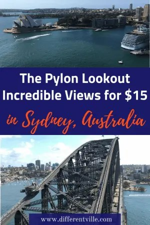 It costs just $15 to climb the Sydney Harbour Bridge Pylon Lookout - but the views are worth a million dollars. Here's why you must add the Pylon Lookout to your list of things to do in Sydney. #sydneyharbourbridge #sydneyviews #thingstodoinsydney