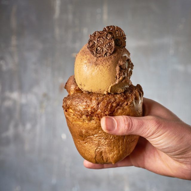 One of the innovative options at Giapo Ice cream in Auckland is a Yorkshire Pudding themed cone.