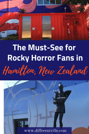 There's an entire Rocky Horror themed square in the middle of Hamilton, New Zealand - and it's amazing. Here;s everything you need to know to visit. #rockyhorror #quirkytravel #hamiltonnewzealand