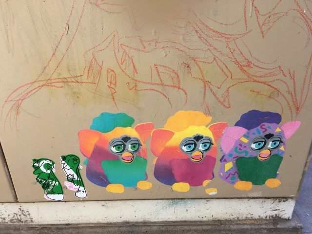 Artist Laura Lamington has pasted tiny furby past ups all over Adelaide. Finding them is just one of the fun and unusual things to do in Adelaide.