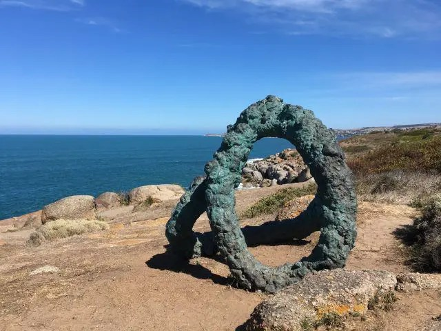 One of the many sculptures on the new Granite Island Sculpture Trail near Victor Harbor