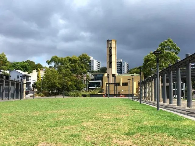 One the quirky sights along Glebe Foreshore Walk is the old incinerator!
