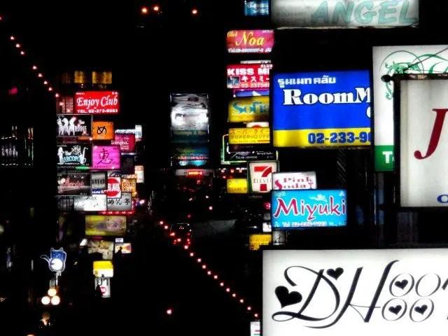 Signs around Nana in Bangkok