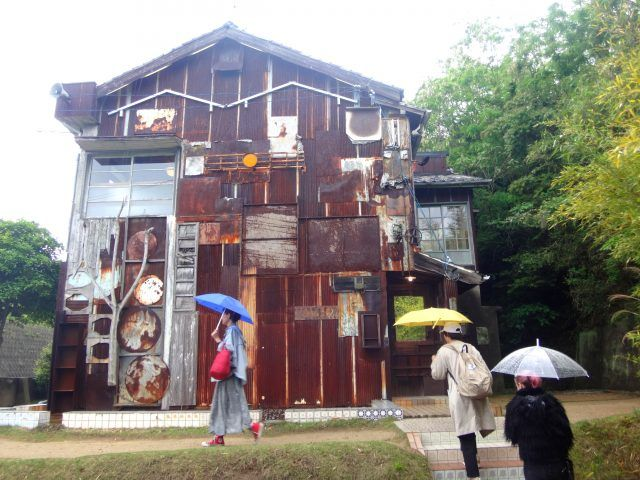 One of the houses in the must-see Art House Projec ton Naoshima Art Island. Here's how to get round Naoshima Island in one day