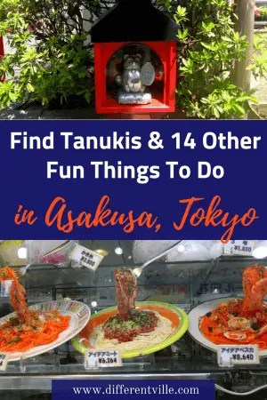 Looking for what to do in Asakusa, Tokyo. We've got 15 fun suggestions including a street full of tanuki, Tokyo's most mind-blowing temple and riding a rickshaw Click here to read it now or save it to your Japan board for later. #tokyo #thingstodointokyo #tanuki #asakusa