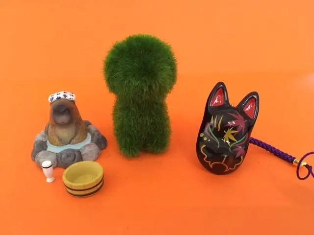 Collection of Gachapon toys from Akihabara Tokyo
