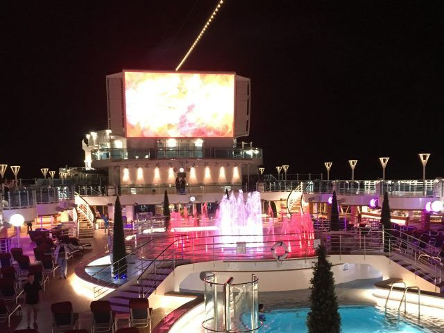 The Fountain and Light show on Majestic Princessz