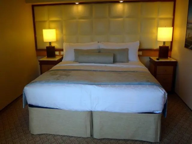Bedroom in the Majestic Princess Owners Suite