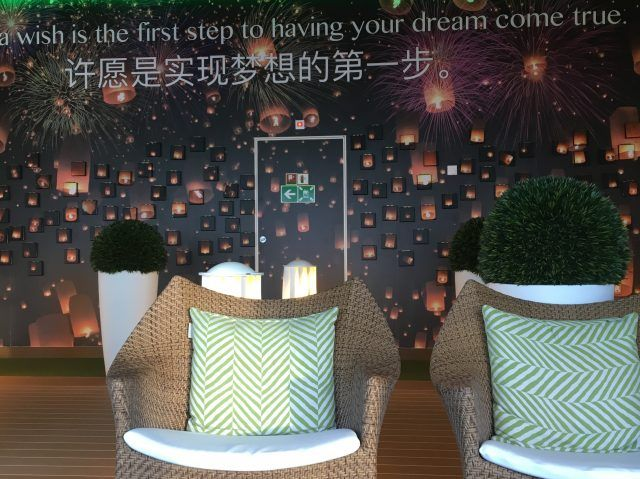 The Wishing Wall is just one of the quirky touches on the Majestic Princess Cruise Ship