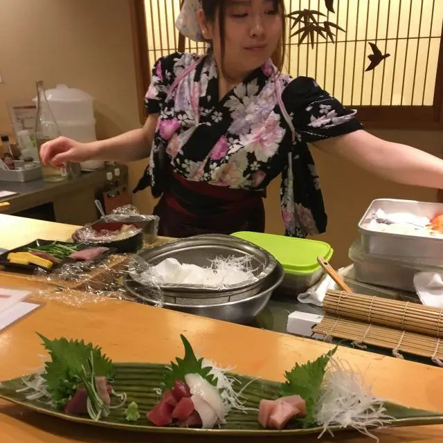 Nadeshiko Sushi Tokyo is a sushi bar fully staffed by women - which is unusual in Jap;an