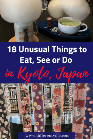 If you're planning a trip to Kyoto and looking for a few more unusual things to do, we have the answer. From Kyoto's most unusual temples to where to find the most instagrammable things to eat, check out our Kyoto guide. Click to read it now or save it to your Kyot or Japan boards until later. #kyoto #thingstodoinkyoto