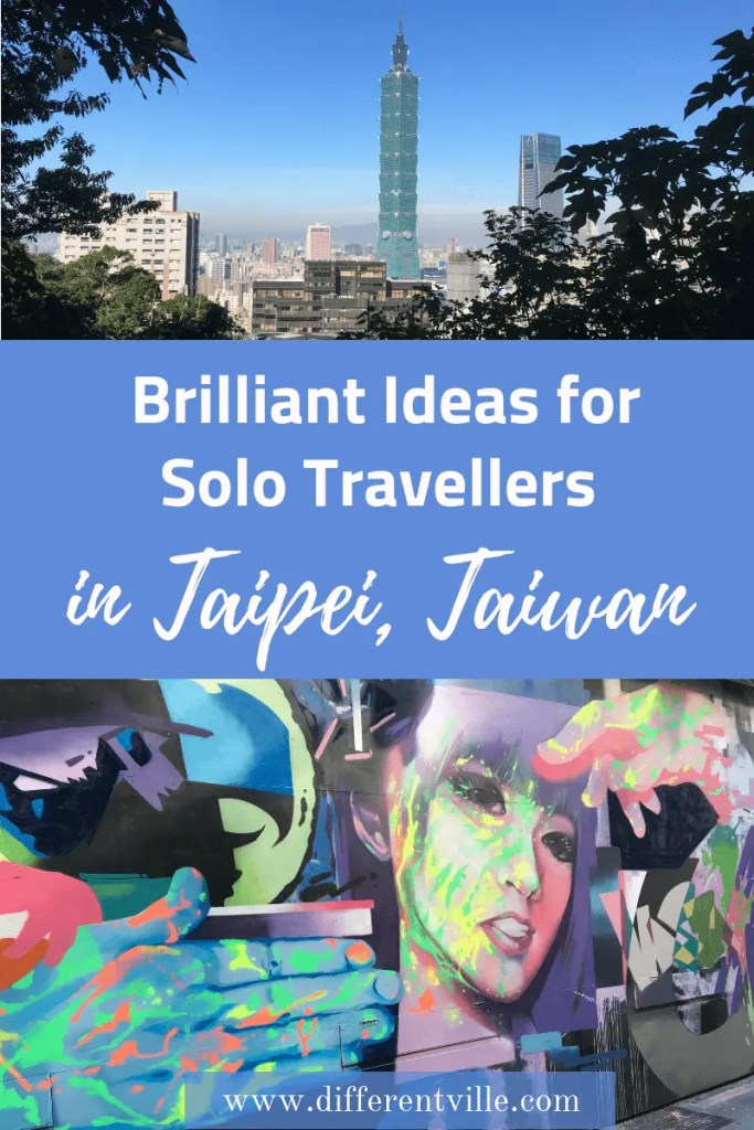 If you're planning a solo trip to Taipei what should be on your to do list? Of course it should have big sights like Taipei 101 but we've also come up with a few things to do in Taipei that are specifically suited to solo travellers. Click to read it now or save it to your Taipei, or Taiwan boards for later. #taipei #thingstodointaipei #taipeisolotravel