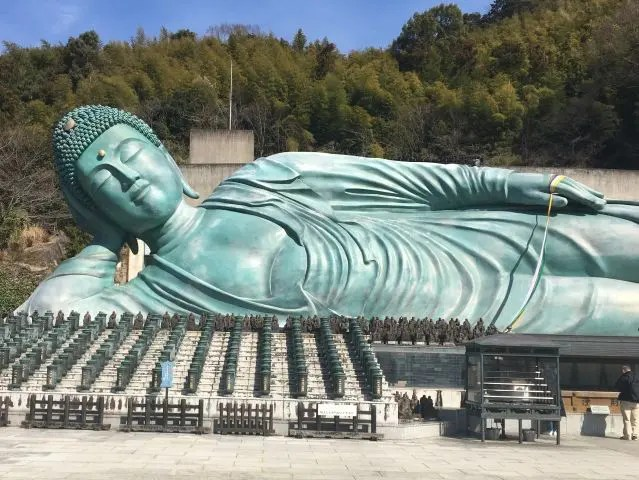The Nanzoin Temple in Fukuoka, Japan is home to the world's largest bronze reclining statue in the world.