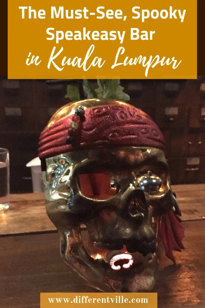Going to Kuala Lumpur and looking for some fun ideas of things to do in Kuala Lumpur at night? Then check out The Deceased, a spooky Kuala Lumpur bar in the middle of Chinatown. Click to find out what to expect (and how to get in) or save it to your Kuala Lumpur board for later. #kualalumpur #kualalumpurbars #barsinkualalumpur #speakeasybars #thedeceasedkl