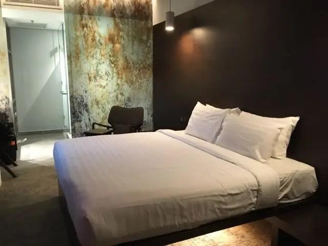 Room at the Tune Hotel at KLIA 2 airport in Kuala Lumpur