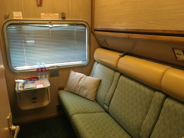 Gold class twin cabin on The Ghan