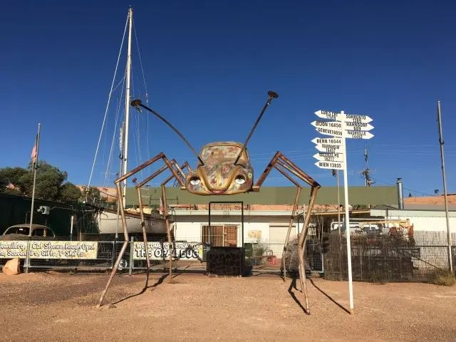 VW car turned into a spider sculpture