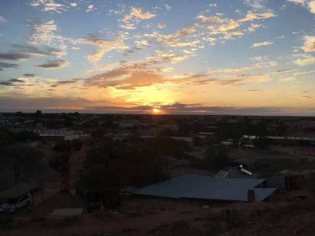 Sunset in Coober Pedy