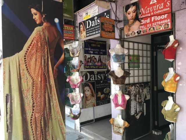 Indian clothing on sale in Brickfields,Kuala Lumpur
