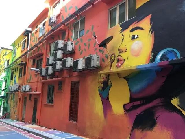 Mural of face in Kuala Lumpur