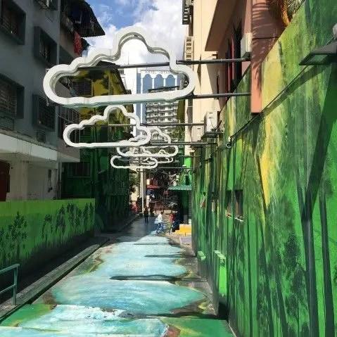 Painted alleyway in Kuala Lumpur Malaysia