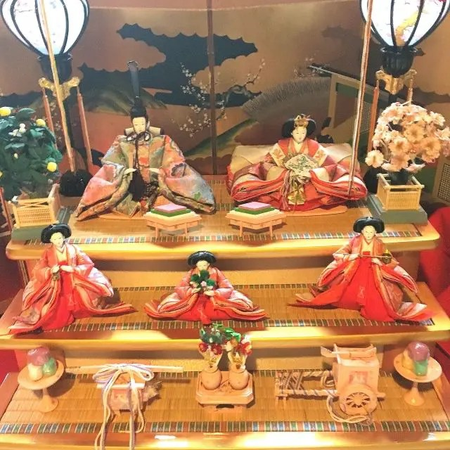 Dolls on Display for the Doll Festival in Japan