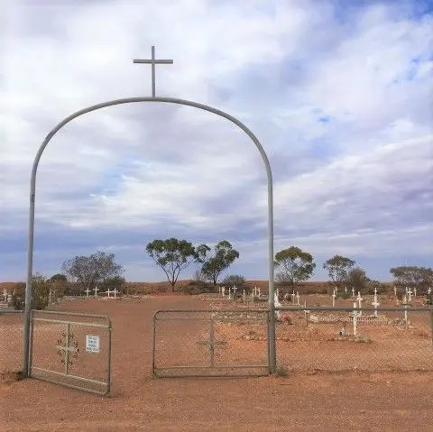 Entrance to Boothill Cemetery, Coober Pedy