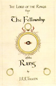 Tolkien's own cover illustration for The Fellowship of the Ring.