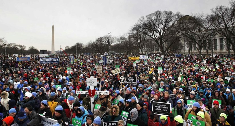 Photo of crowds at the 2013 March for Life. (CatholicPhilly.com)