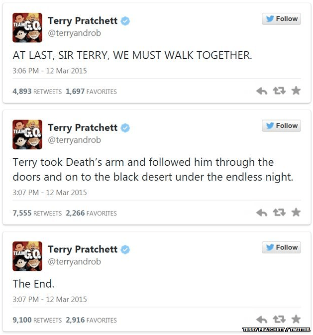 954 - Terry Pratchett Last Tweets