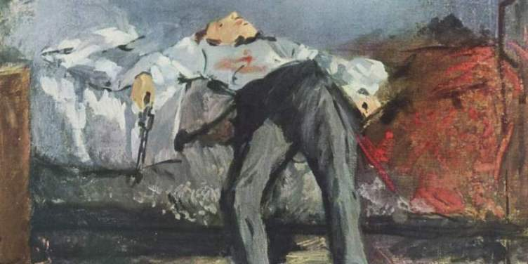 Painting of Le Suicidé by Édouard Manet
