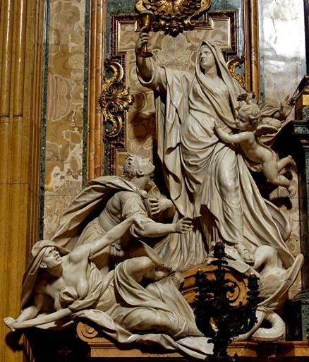 Triumph of Faith over Idolatry by Jean-Baptiste Théodon (Wikimedia Commons)