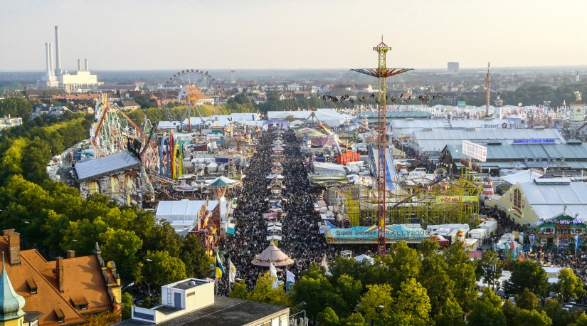 "Oktoberfest is held each year at the fairgrounds of Theresienwiese (Theresa's Field), nicknamed by the locals as the ""Wiesn"""