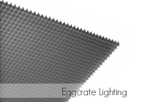 what egg crate lighting panels do best