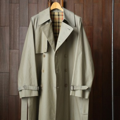 MARKAWARE|WIDE TRENCH COAT #KHAKI