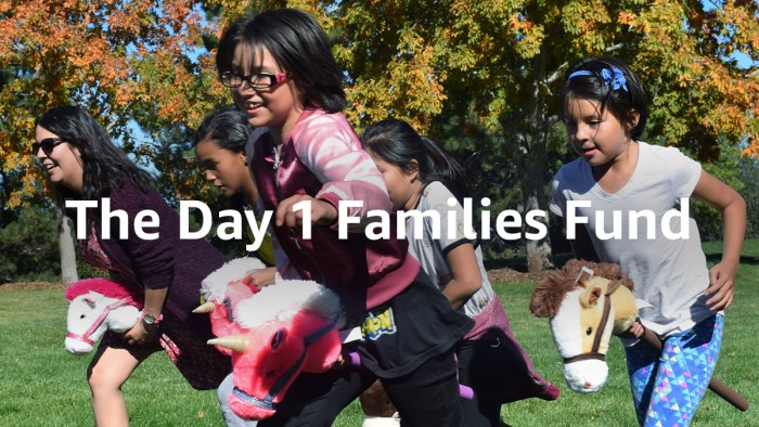 Day 1 Families Fund Announcement